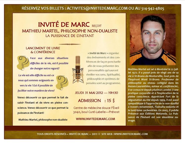 INVITÉ DE MARC MAI 2012