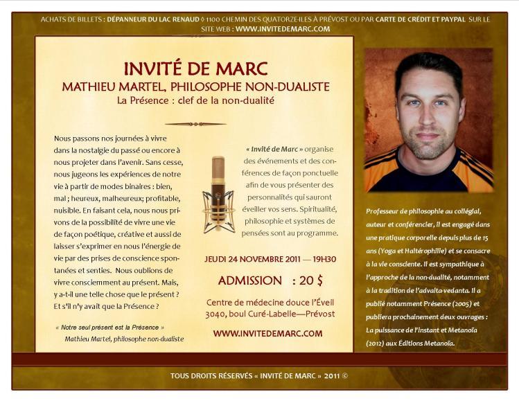INVITÉ DE MARC NOV 2011